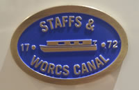 Staffs & Worcs Canal - Metal Oval Bridge Plaque Magnet